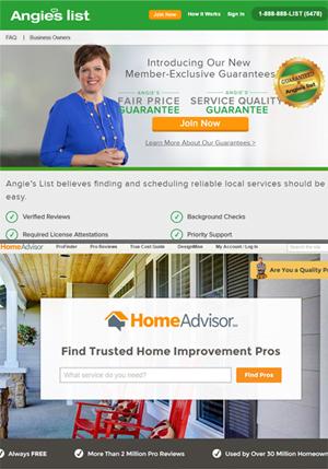 AngiesList and HomeAdvisor