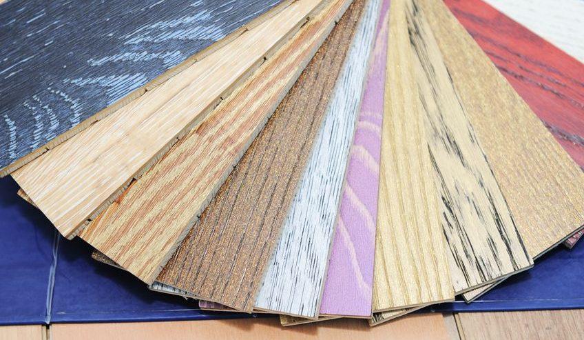 wooden floor stain samples