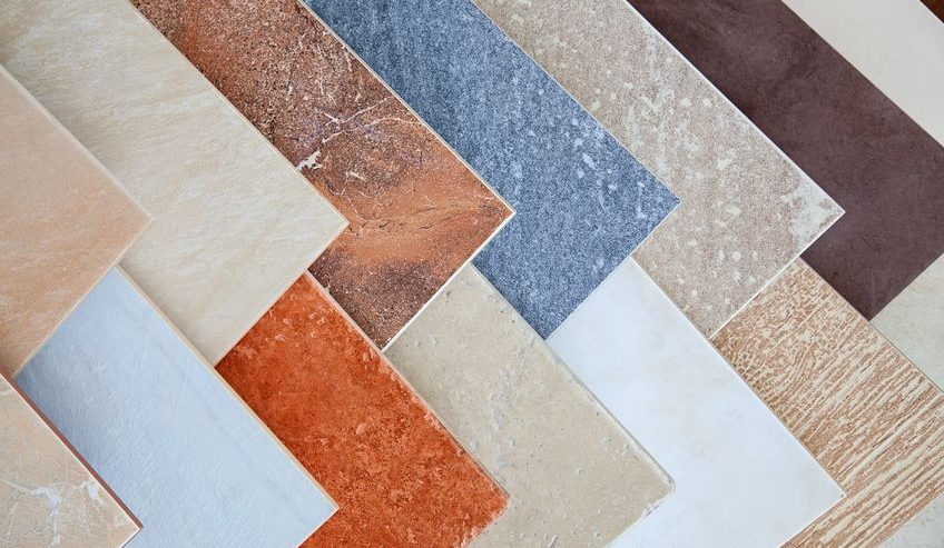samples of ceramic tile and laminate tile