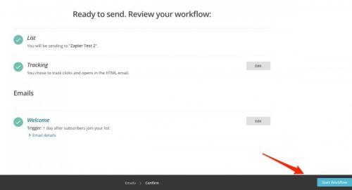 14. Start workflow