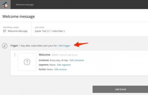 8. Edit email trigger