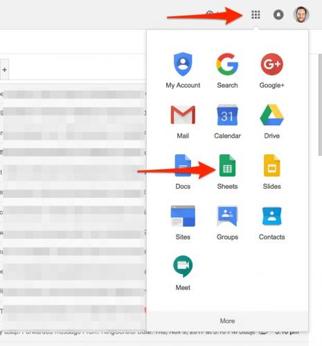 1. Google Sheets from Gmail