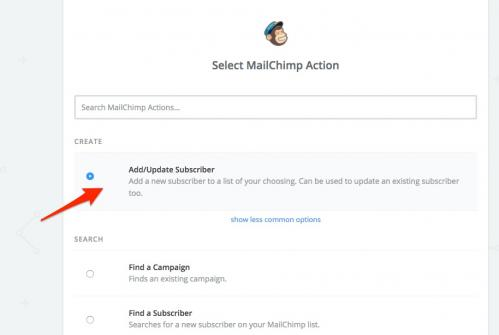 16. zapier - add:update subscriber