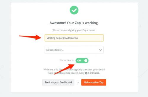 20. zapier - name automation & turn on