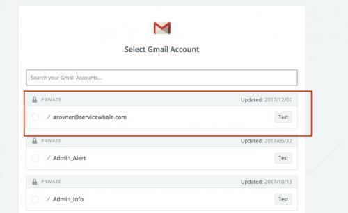 4. zapier - connect gmail account